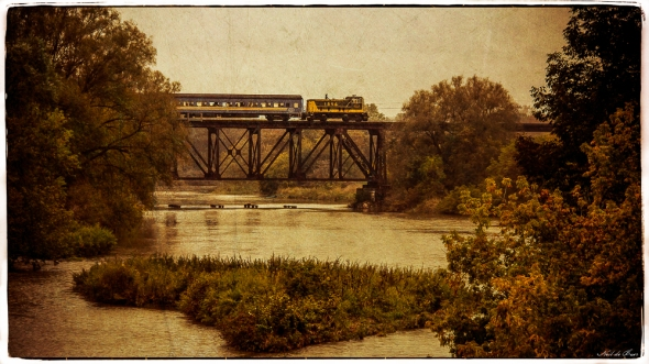 Train Crossing the Conestogo River