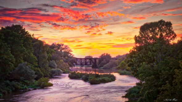 Conestogo River sunset